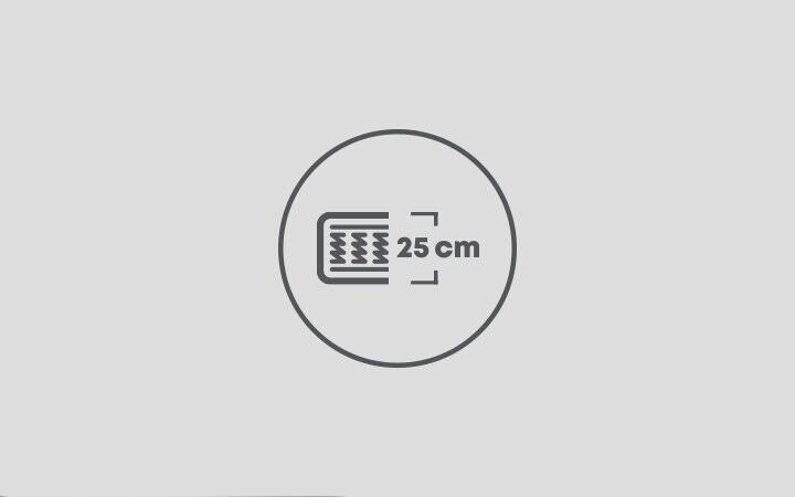 25 cm Yatak Yüksekliği